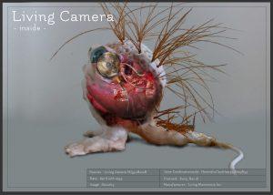 Biotronicol inside living camera bioart GMO
